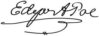Edgar Allan Poe's signature