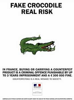 French warning against fakes