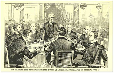 Twain and the Pilgrim's Club at the Savoy