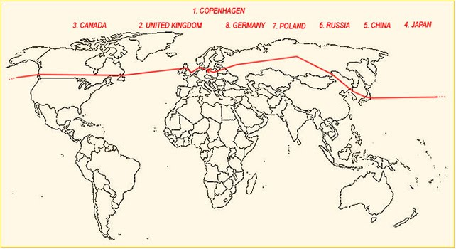 Palle's journey around the world