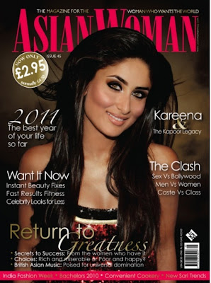 kareena kapoor,  actress, Asian Woman Magazine