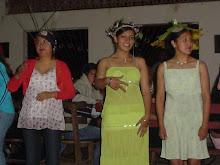 Las Ganadoras del Concurso de sombreros campamento 2007