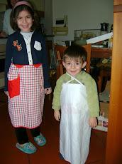 I miei aiutanti in cucina!!