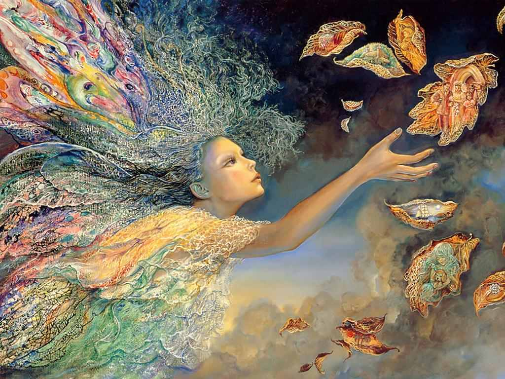 My world the fantasy world of josephine wall for Www painting com