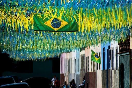 Brazil Flag Street