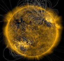 Una vista del sol