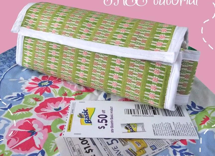 June Pfaff Daley: Fabric coupon holder tutorial: Buy 1 ...