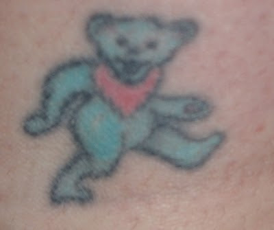 Grateful Dead Tattoos: GD Tattoo #72 JoJo's Blue Dancing Bear