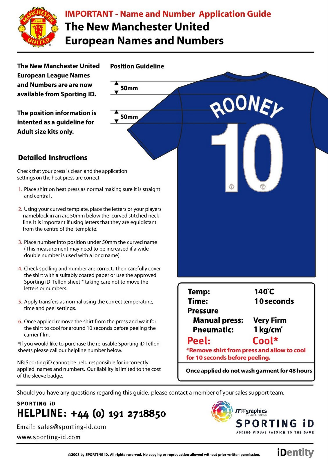 Cheap Kit Numbers Iron On Transfer Football Shirt Number EURO Football Kit Player Name and Number