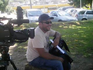 Gravação de Anônimos. O diretor Harrison Araújo. Foto: Geraldo Seara.