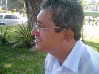 Prof. Felisberto Daltro na Gravação de Anônimos. Foto: Geraldo Seara.