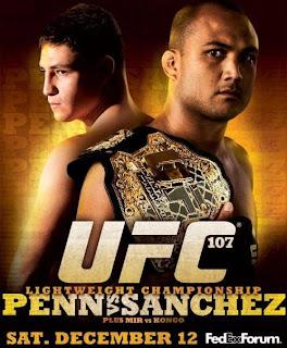 UFC 107 - Card e Resultados
