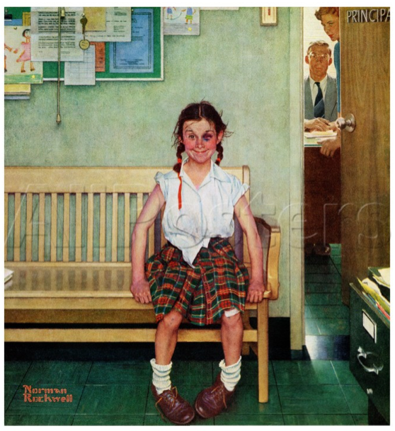 ccs art art minute happy birthday norman rockwell
