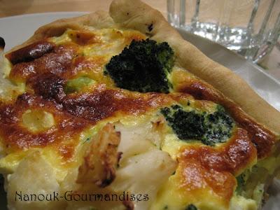 Gourmandises quiche brocolis et choux fleurs - Recette tarte salee originale ...