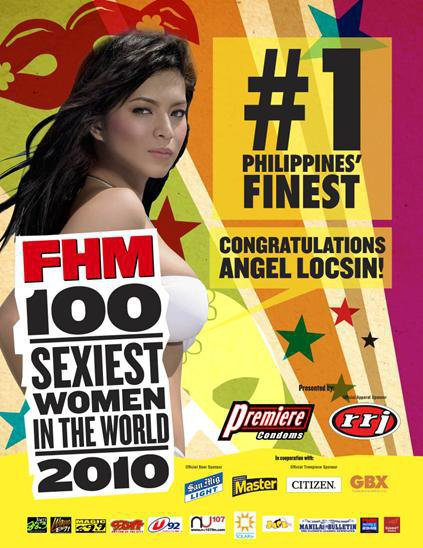 ABSCBN primetime actress Angel Locsin regain her crown as FHM Philippines