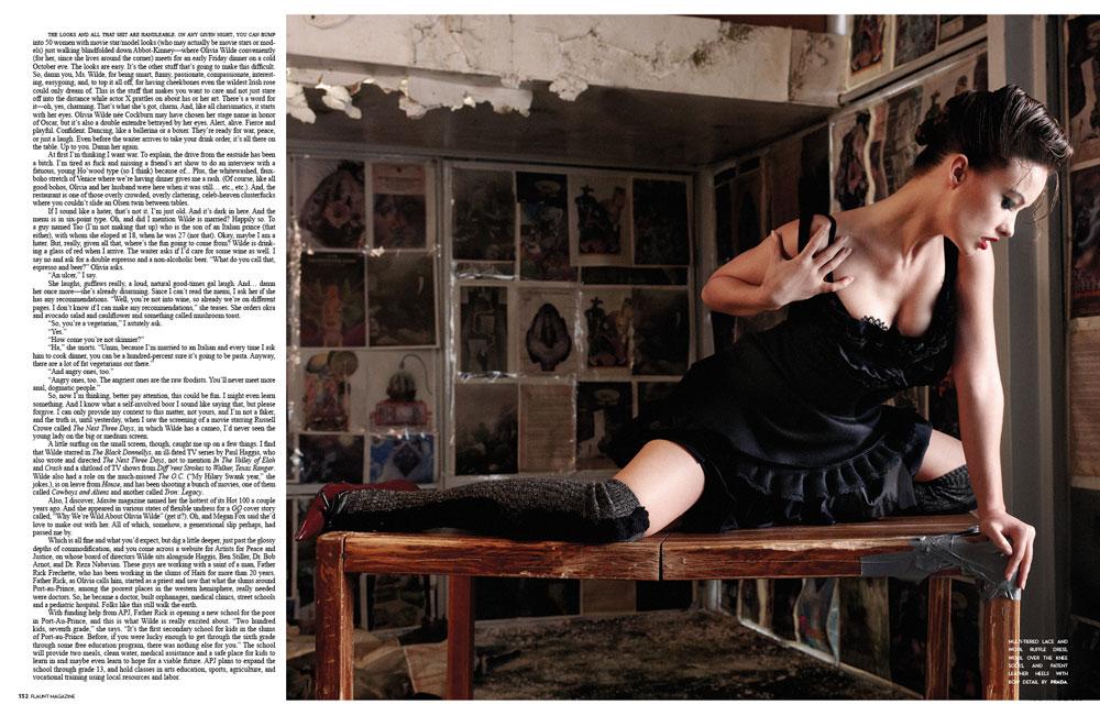 tom felton and jade olivia breakup. Olivia Wilde in Flaunt