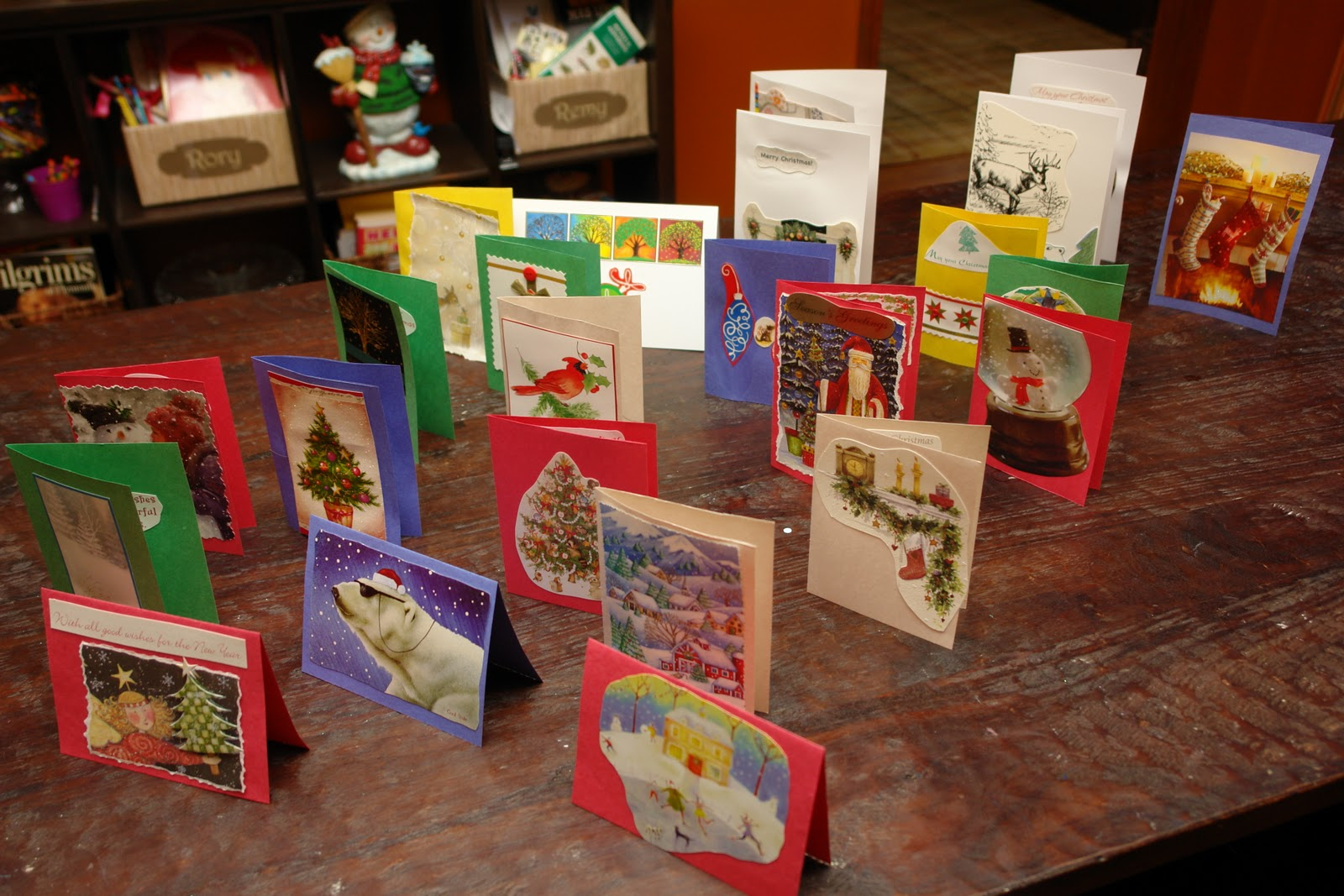 booturtle 39 s show and tell recycle old christmas cards