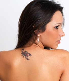 Scorpion tattoo design for girls