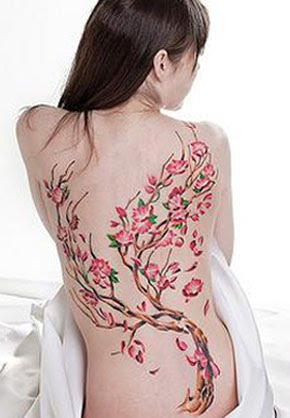 Cherry Blossom tattoo has lot of symbolic meaning in Chinese and Japanese