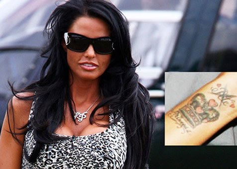 katie price tattoos celebrities