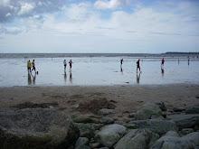 En la playa de Galway.