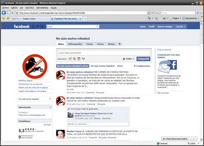 Facebook Motos robadas