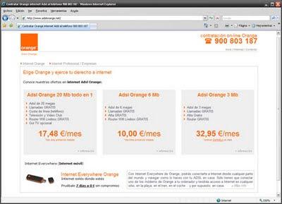Internet Orange Adsl