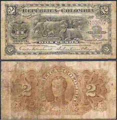 billete de 2 pesos de 1904