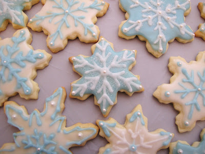 Decorated Snowflake Sugar Cookies