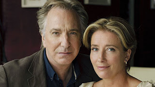 Alan Rickman & Emma Thomson in the BBC's screening of Chris Reid's poem, The Song of Lunch
