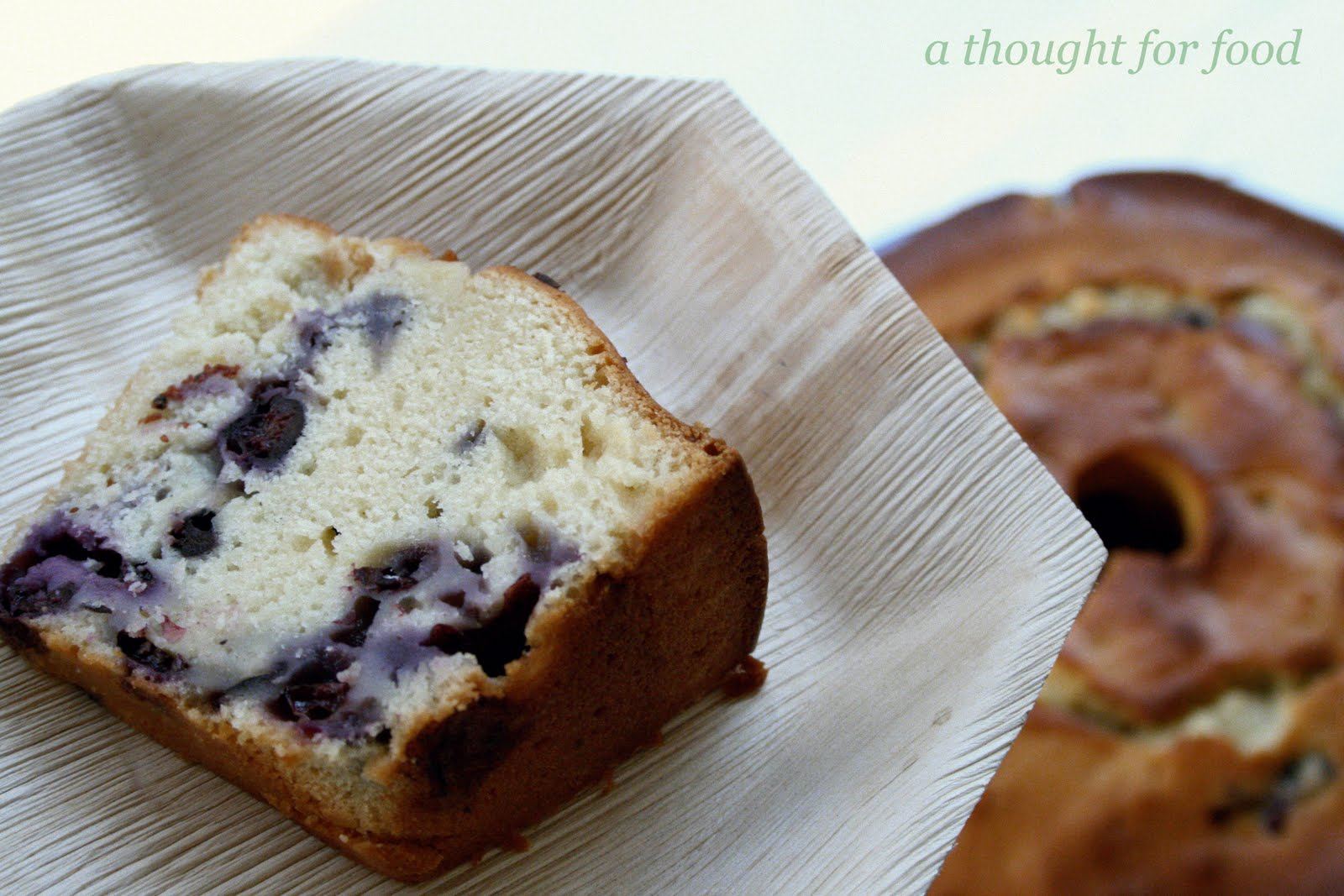 Recipe: Low Fat Blueberry Pound Cake » A Thought For Food