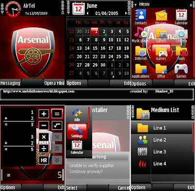 Arsenal theme for s60v3