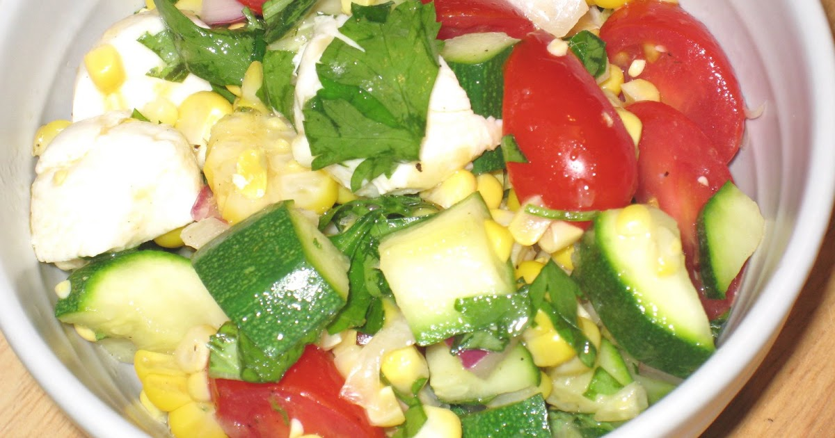 Cooking without a Net: Corn, Zucchini and Mozzarella Salad