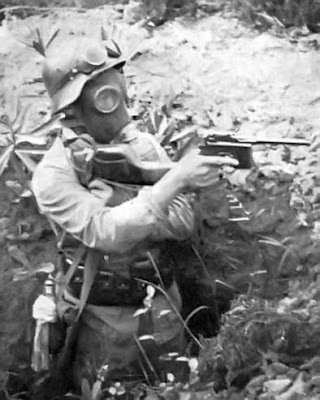 First World War Gas Mask. from the 1974 Bond movie