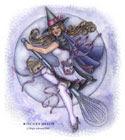 """Схема вышивки  """"Юная ведьмочка """": комментарии."""
