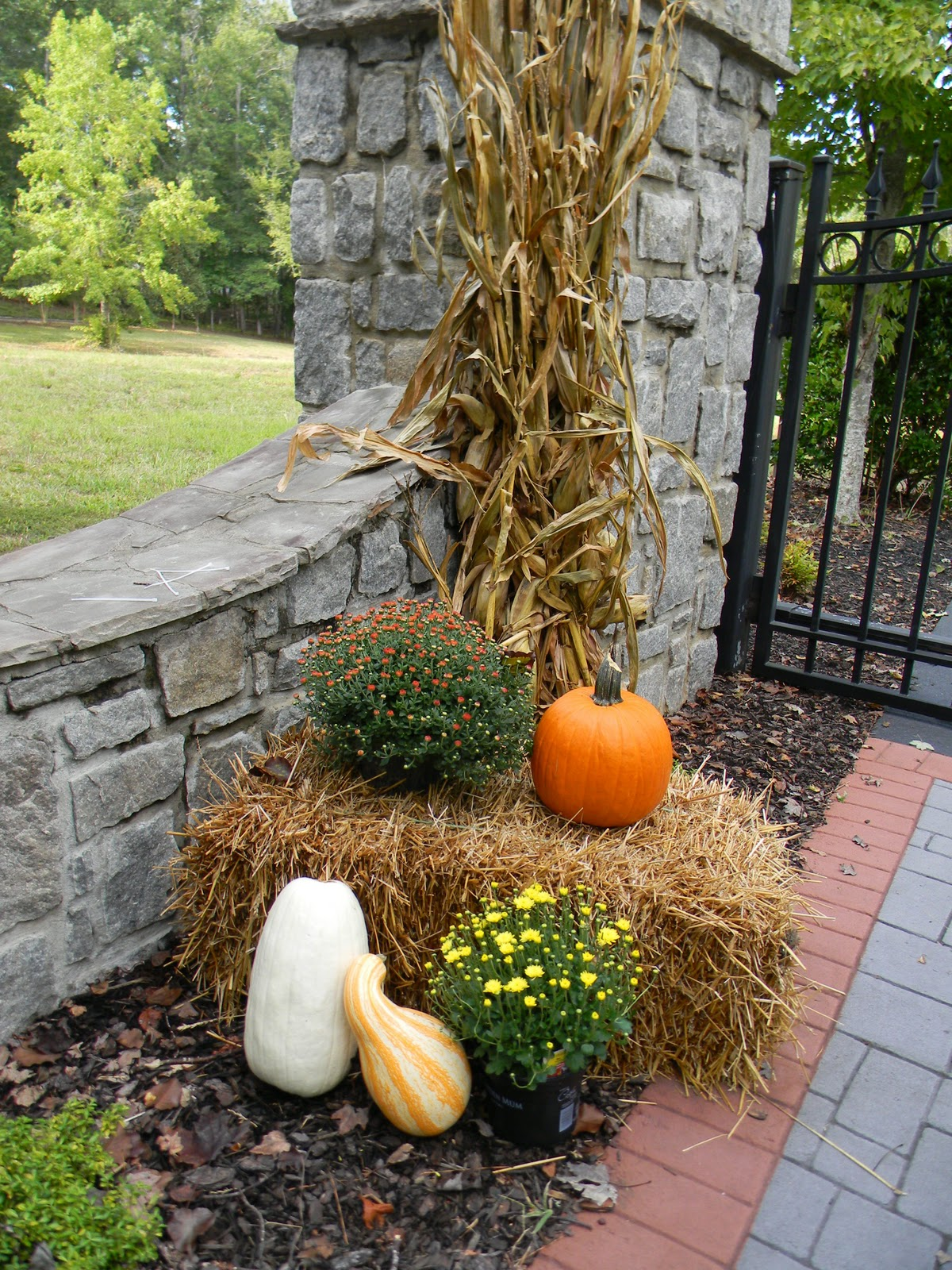 A Toile Tale: Outside Fall Decorating