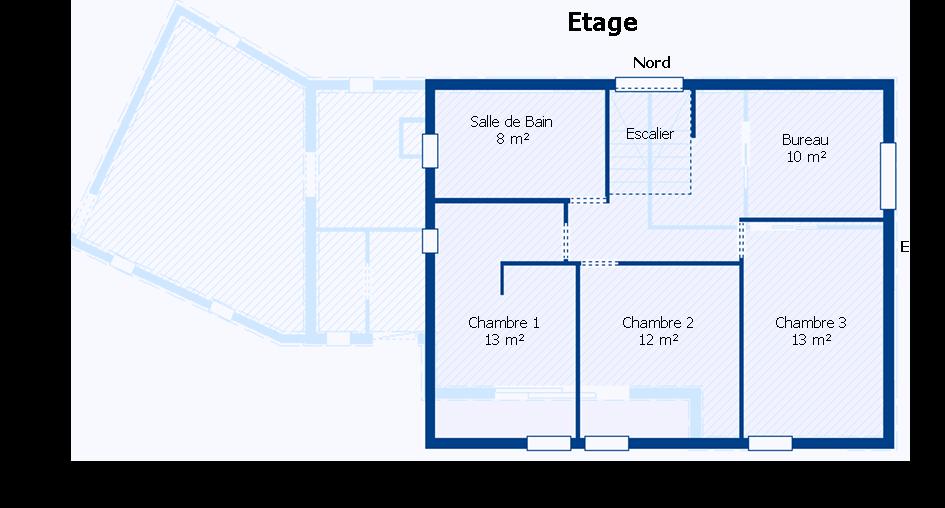 Plan maison 3d avec toiture for Plan toiture maison