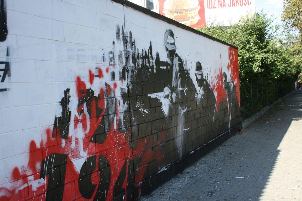 Patriotyczny mural - Powstanie 44