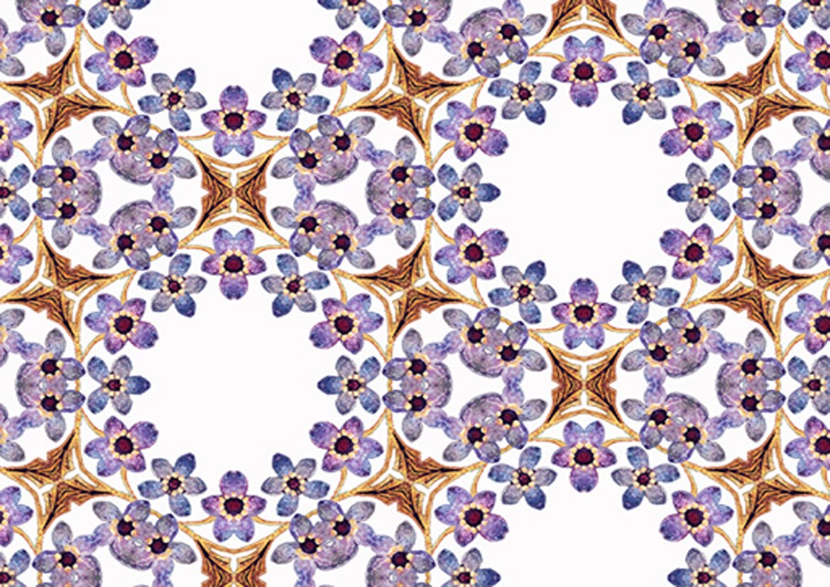 ArtbyJean - Purple Wood Roses: Set A05 - Four different ...