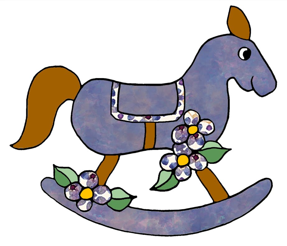 Vintage Rocking Horse Clipart Rocking horse clip art from