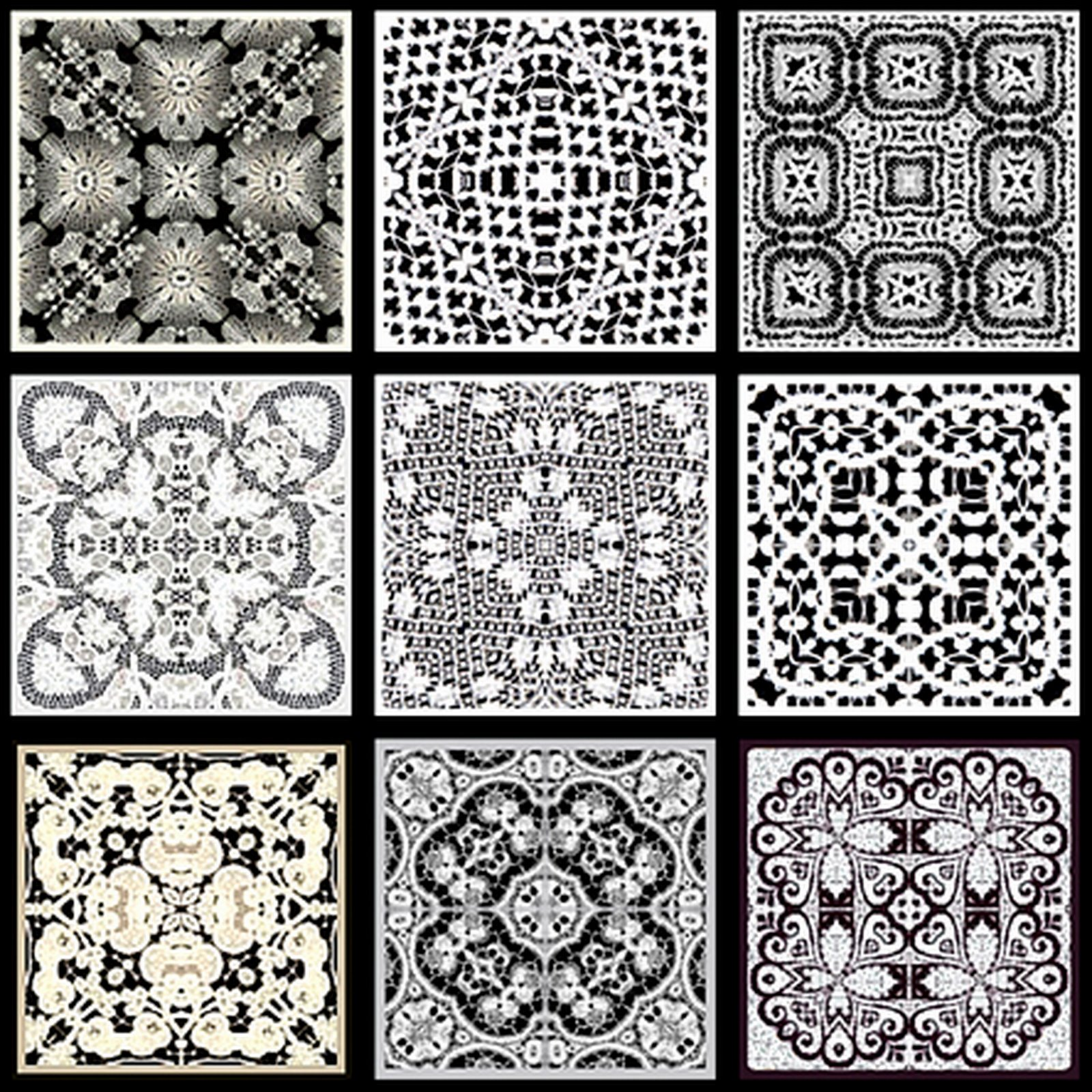 Black and white tiles 2017 grasscloth wallpaper for Tiles black and white
