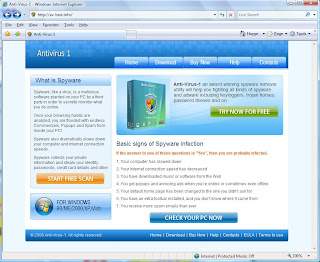 Antivirus 1 Site Screenshot