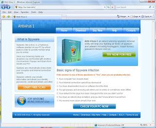 Antivirus 1 Site Screenshot