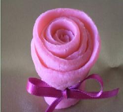 Rosa de marzipã.