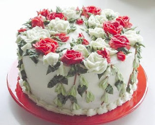 Valentine Cake Ideas With Flowers
