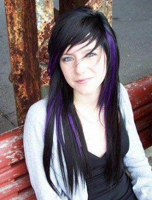 popular long layered hairstyles. Long Layered EMO Hairstyles emo highlights.