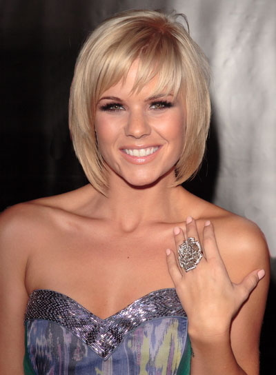 long layered bob hairstyles. Kimberly Caldwell layered bob