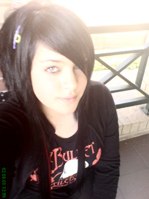 cute emo girl with long emo hair