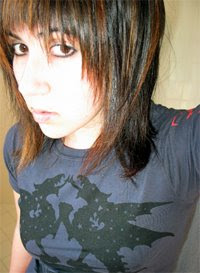dyed shoulder length emo hair style