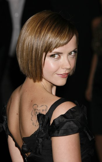 Celebrity Hairstyle : Christina Ricci Cute Short Bob Hairstyle